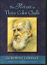 The Portrait in Three Color Chalk by Robert Liberace